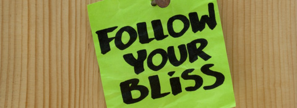follow your bliss - spiritual reminder